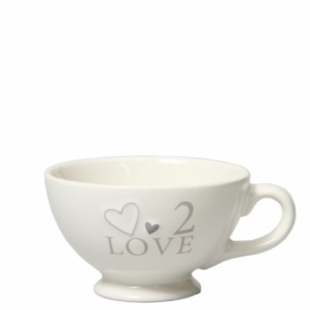 "Bastion Collections Jumbotasse ""2 Love"""