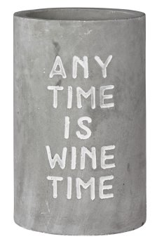 "räder design Beton Weinkühler ""ANY TIME IS WINE TIME"""