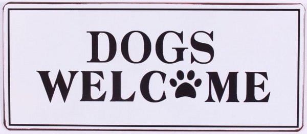 Lafinesse Schild Dogs welcome